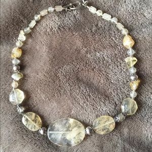 Jewelry - Citrine necklace with sterling silver